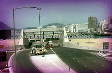 HK278 35mm Slide Harbour Tunnel Hong Kong Red Border Color Transparancy
