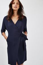 Topshop Batwing Wrap Dress Navy Size UK 12 Dh182 OO 18
