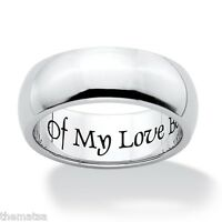 OF MY LOVE BE SURE STAINLESS STEEL WEDDING BAND RING  SIZE 6,7,8,9,10,11,12,13