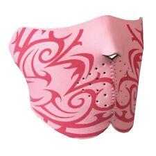 Pink Tribal Neoprene Half Facemask Lightweight Stretchable velcro closure OSFM