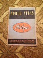 Vintage Rare 1944 WWII Philgas World Atlas World Edition