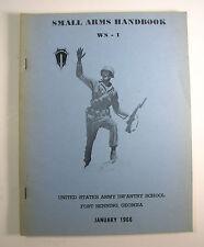 Us Army Ws-1 Small Arms Handbook January 1966