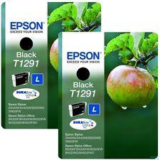 Original 2 X T1291 encre Noire pour Epson Office B42W