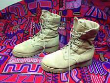 USA BATES DESERT MILITARY COMBAT BROWN LEATHER  BOOTS 6.5 E