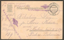 WWI 1916 KUK Feldpostamt 169 Field Post Military Correspondence Postal Card