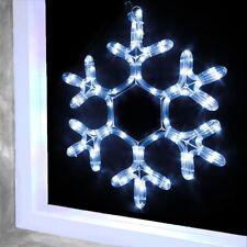LED DI NATALE FIOCCO DI NEVE Outdoor finestra Corda luce mentre Natale Decorazione 38cm