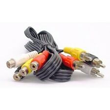 Audio Video RCA Phono AV Extension Lead / Cable, 4 Phono male to female, 1.5m