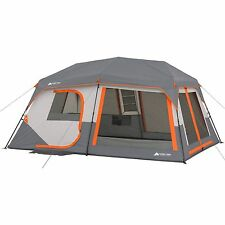"""10-Person Instant Cabin Tent with Light Ozark Trail 14' x 10' x 78"""" Camping"""
