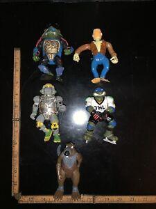 Vintage Lot Of 5 Teenage Mutant Ninja Turtles Action Figures