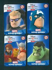 PACK 4 CARTE CARD WEB CODE DISNEY INFINITY 2.0 3.0 : MARVEL SUPER HEROES