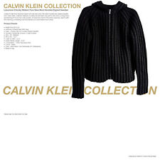 CALVIN KLEIN COLLECTION New Black Hooded Wool Jumper - UK 38 EU 48 - WAS £675.00