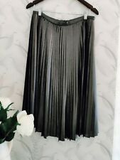 Ted Baker midi skirt (Zainea) metallic charcoal grey TB Size 4 (14)