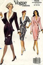 VOGUE Misses'  Dress Pattern 7835 Size 14-18 UNCUT