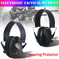 Noise Canceling Electronic Ear Muffs Protection Shoot Hunting Gun Sport