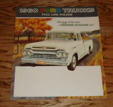 Original 1960 Ford Truck Full Line Foldout Sales Brochure 60 F-100 250 350
