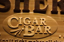wpa0076 Name Personalized Cigar Bar VIP Room Man Cave 3D Engraved Wooden Sign