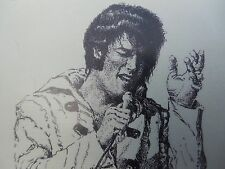 ELVIS PERFORMING ART POSTER  SIGNED BY ARTIST LOUIS RICCO