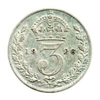 KM# 827 - Threepence - 3d - George V - Great Britain 1926 (VF)