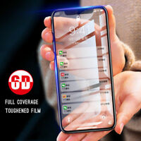 6D Apple iPhone 6 7 8+ XS MAX XR Full Cover Tempered Glass Screen Protector Film