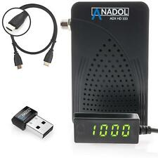 Anadol ADX HD 333 Mini Full HD Sat Receiver Multistream mit WIFI / HDMI Kabel