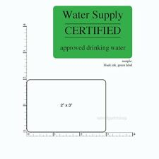 2 X 3 Printed Labels 2000 Rectangle Custom Business Stickers 1 Color Screens
