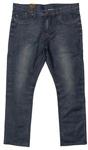 Mens Chisel Jeans Dark Blue Denim Straight Leg Jeans CJ-2913BS