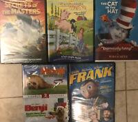 LOT 5 New Sealed DVD Kung Fu Panda Frank Cat In The Hat Benji Charlotte's Web