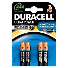 """NEW DURACELL AAA SIZE 4 PACK ULTRA POWER ALKALNE BATTERIES """"MX2400B4ULTRA"""""""