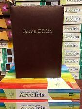 Bíblia De Estudio Reina Valera 1960 Arco Iris Chocolate Cierre Índice