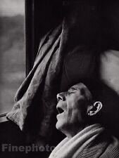 1955/68 Vintage 8x10 ROME-NAPLES EXPRESS Train Man Sleeping Photo Art By BRASSAI