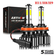 4 Sides H8 H9 H11 LED Headlight Bulbs Fog Light 2800W 560000LM Hi Low Beam Best