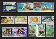 British Indian Ocean Territory - 5 Older sets, mint, cat. $ 38.25