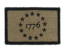 1776 Patriot Tactical Hook & Loop Fully Embroidered Morale Tags Patch CB