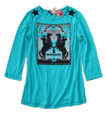 Tunique - Women's S - NWT $110 - Turquoise Rodeo Horse Western Embellished Tee