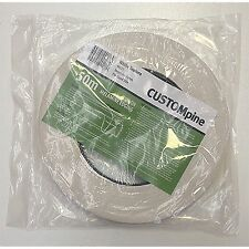 CustomPine WHITE IRON-ON MELAMINE EDGING TAPE for Covering 16mm Board, 21mmx50m