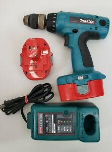 Makita Cordless 18v Blue Drill (6347D) - Includes 2 Batteries, 1 Charger - T5