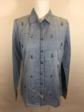 J CREW NWT BOY SHIRT IN BEADED CHAMBRAY SIZE 6 #02967
