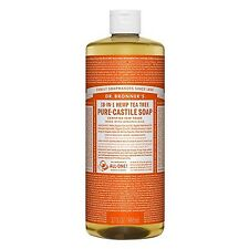 Dr. Bronner's Magic Soap Hemp Tea Tree Oil Pure Castile 32 oz Free Priority Mail