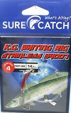 SureCatch 691KWS42 Kg Whiting Rig - Stainless 34007 #4 Trace 14lb
