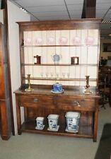 7 ft Country Oak Welsh Dresser Pot Board Cupboard