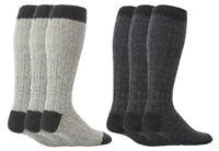 Workforce - 3 Pack Mens Long Knee High Thick Warm Wool Knitted Work Boot Socks