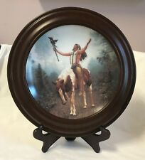 """Deliverance~Mystic Warriors Limited 8"""" Plate Collection+Frame/Sand Hamilton 1992"""