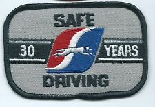Greyhound Bus 30 years safe driving driver patch 2-1/2 X 3-3/4 inch