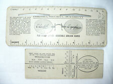 "[2]  ANTIQUE 1890's ""GENEVA OPTICAL CO."" OPTICAL LENS RULER / GUAGE COLLECTIBLES"