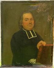 Portrait de Curé Epoque XVIIIème siècle Huile sur toile Ecole française