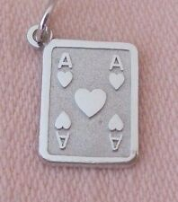 ACE OF HEARTS ~ PLAYNING CARD Sterling Silver Charm