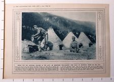 1915 WWI WW1 PRINT ~ IMPROVISED FIELD-BAKERY OVEN BREAD FOR AUSTRIANS IN ALPS