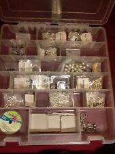 Silver Plated Jewelry Earring Making Supply Lot & ArtBin Custom Storage
