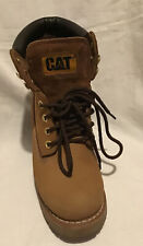 Caterpillar Ladies Leather Brown Ankle Boots In Good Condition Size Eu 37 UK 4