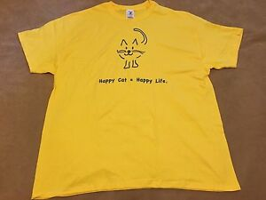 Happy Cat Happy Life T Shirt Size Large
